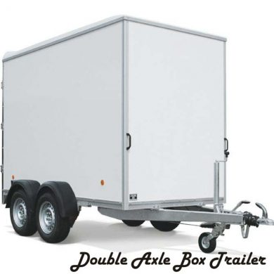 Box trailer double axle