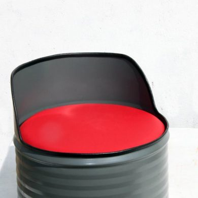 Metal drum single seat.