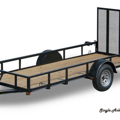 Single axle long trailer