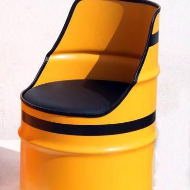 Metal drum seat