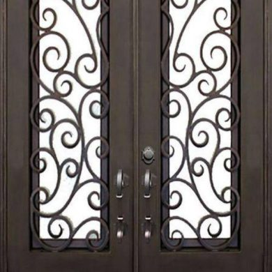 Metal doors at Jabel Al Maliha, UAE