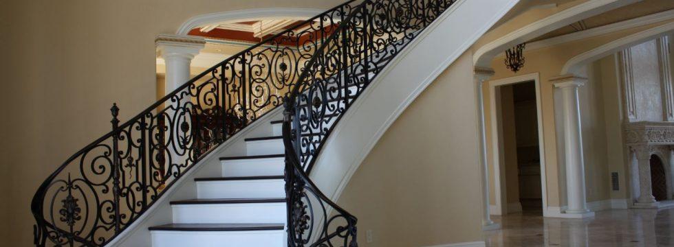 Gothic design wrought iron railing