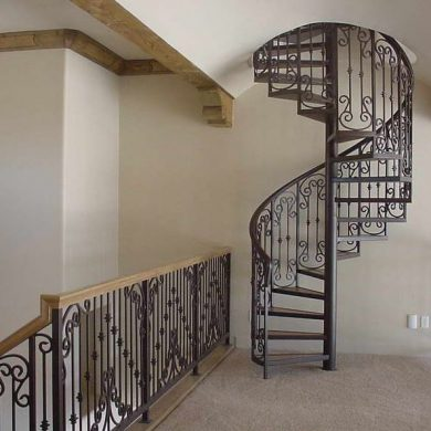 Spiral wrought iron railing