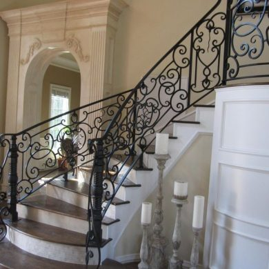 Hand Railings with scrolls