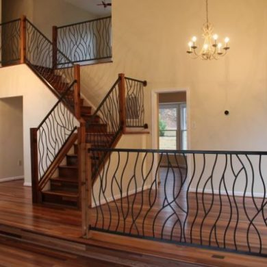 Wrought iron railings and cast aluminium railings