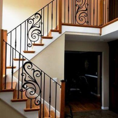 Elegant wrought iron railing