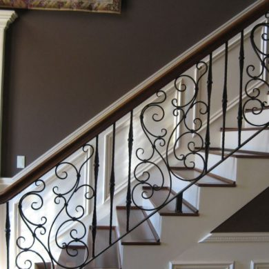 Ornamental scroll rolled railing