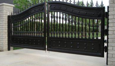 Cast aluminium gate