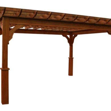 Maranti wood pergola