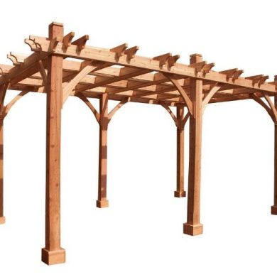Robust wood pergola