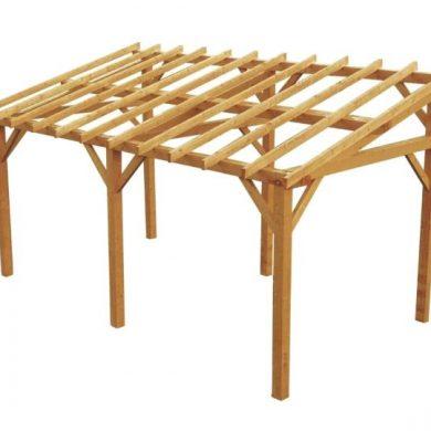 white wood pergola