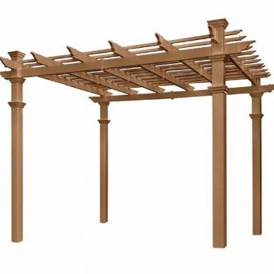 Cross over rafter pergola