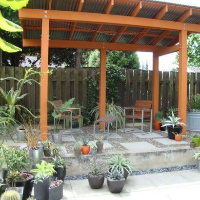 Garden shades - Metal sheet and wood
