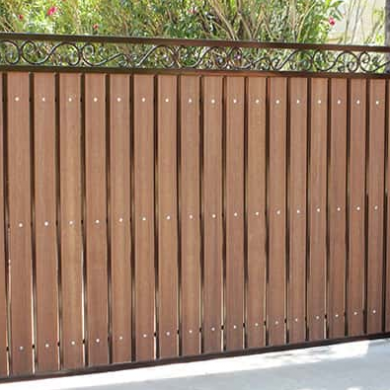 Wooden metal gates fabrication.