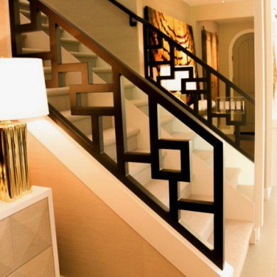 Wrought iron and cast aluminium modern hand rails manufacturing.