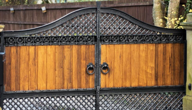 Metal wood gates