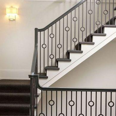 Simple steel railing