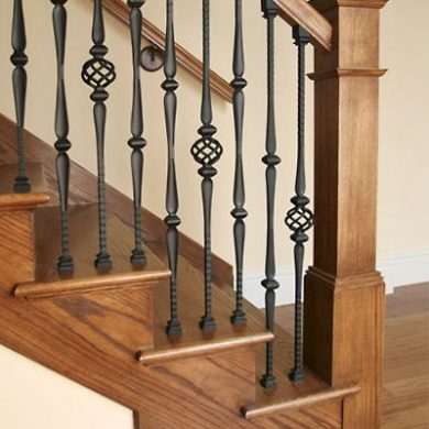 Wood Iron railing