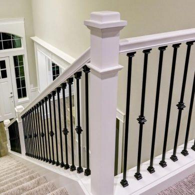 Simple cast iron railing